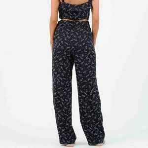 Lucca Couture Pants & Jumpsuits - LUCCA COUTURE Iris Palazzo Navy Floral Print Pants